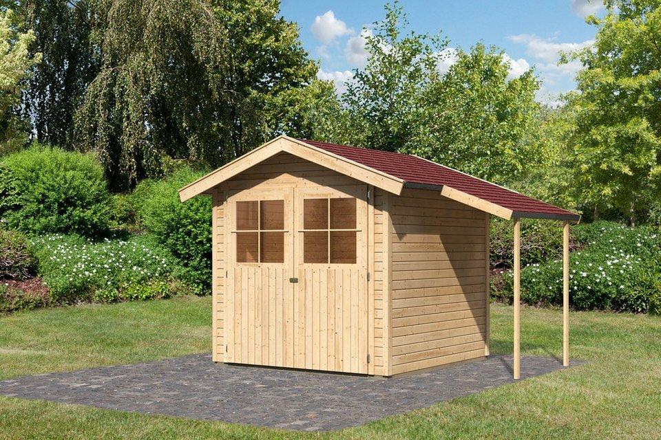 Karibu Set: Gartenhaus »Tostedt 3«, BxT: 209x213 cm in natur