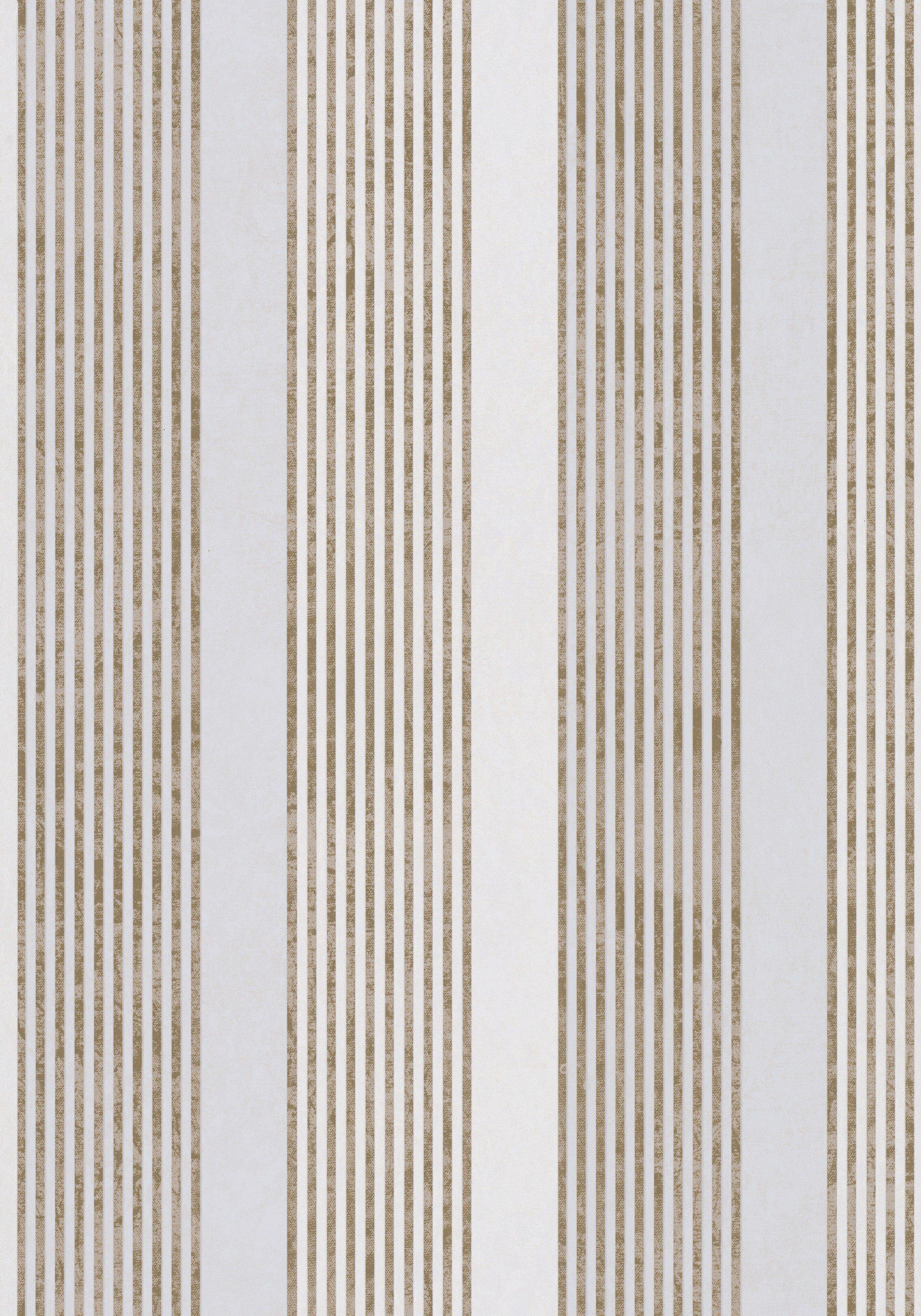 Vliestapete»Streifen«, goldfarben