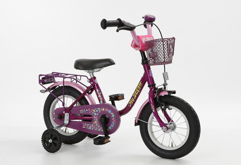 Kinderfahrrad Mädchen »My Dream«, 14 Zoll, 1 Gang, Rücktrittbremse in lila