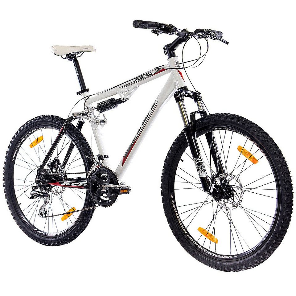 Mountainbike »PUMP-2«, 26 Zoll, 21 Gang, Scheibenbremsen in weiß