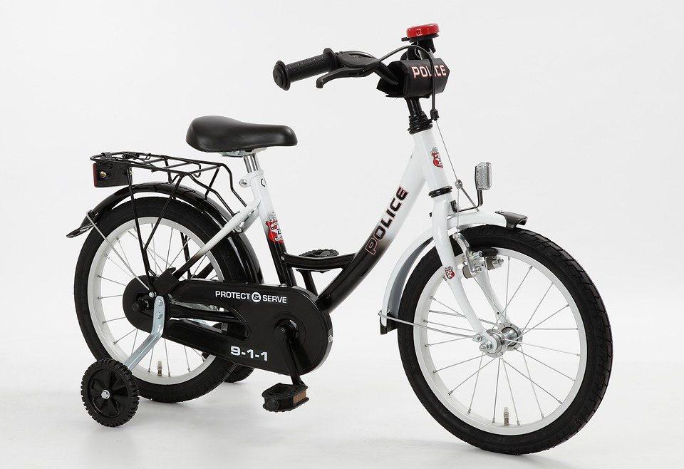 Cycles4Kids Kinderfahrrad »Police, 40,64 cm (16 Zoll)« in schwarz