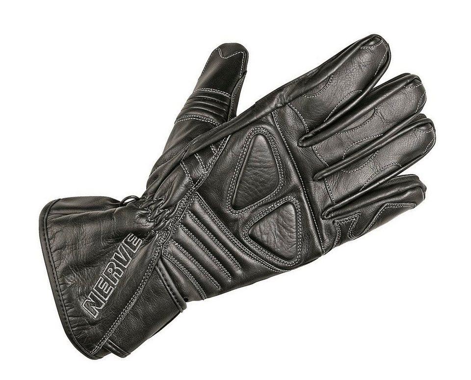 Motorradhandschuhe »Dark Leather« in schwarz