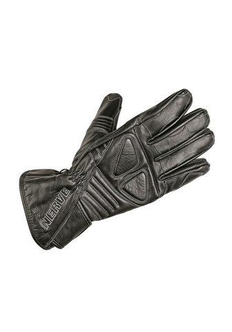NERVE Motociklininko pirštinės »Dark Leather...