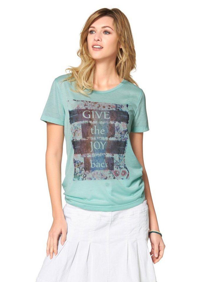 Cheer T-Shirt mit Statement-Frontdruck in mint-bedruckt