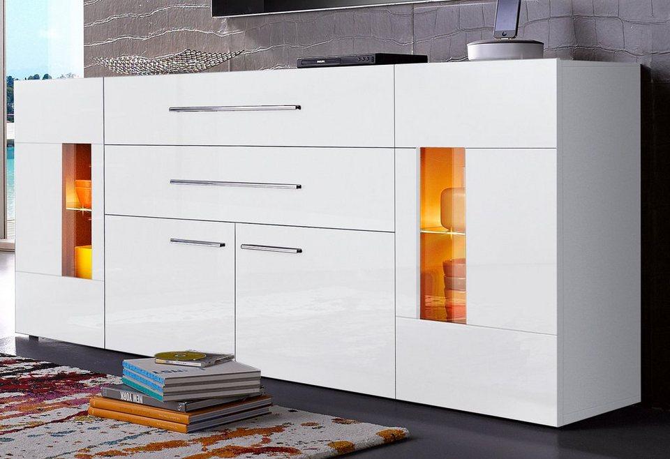 tecnos sideboard breite 200 cm 2 t ren online kaufen otto. Black Bedroom Furniture Sets. Home Design Ideas