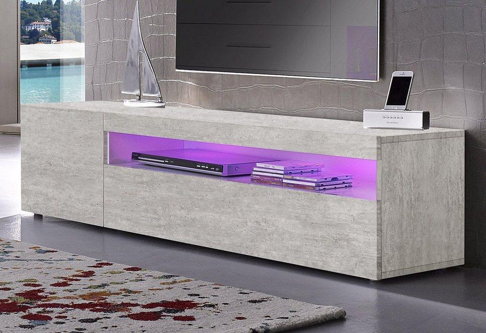 Tecnos Lowboard, Breite 155 cm in Beton-Optik matt