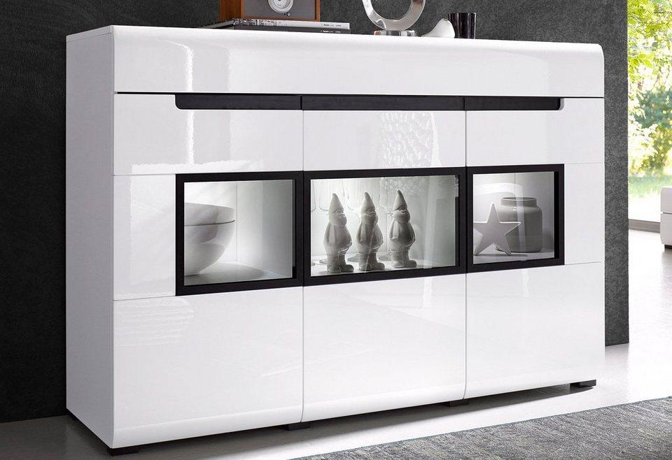 Sideboard, Breite 136 cm in weiß