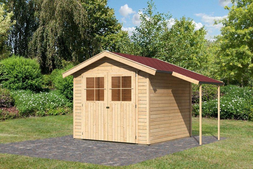 Set: Gartenhaus »Tostedt 5B«, BxT: 242x305 cm in natur
