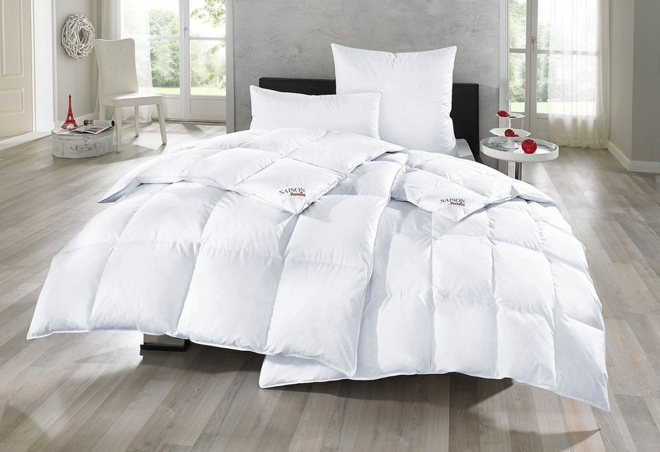 bettdeckenset paradies daunen set odette medium warm normal 80 daunen 20 federn online. Black Bedroom Furniture Sets. Home Design Ideas