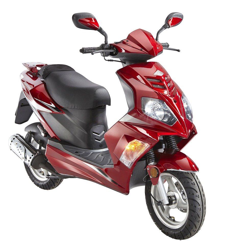 Motorroller »Topspeed«, 50 ccm, 45 km/h in rot