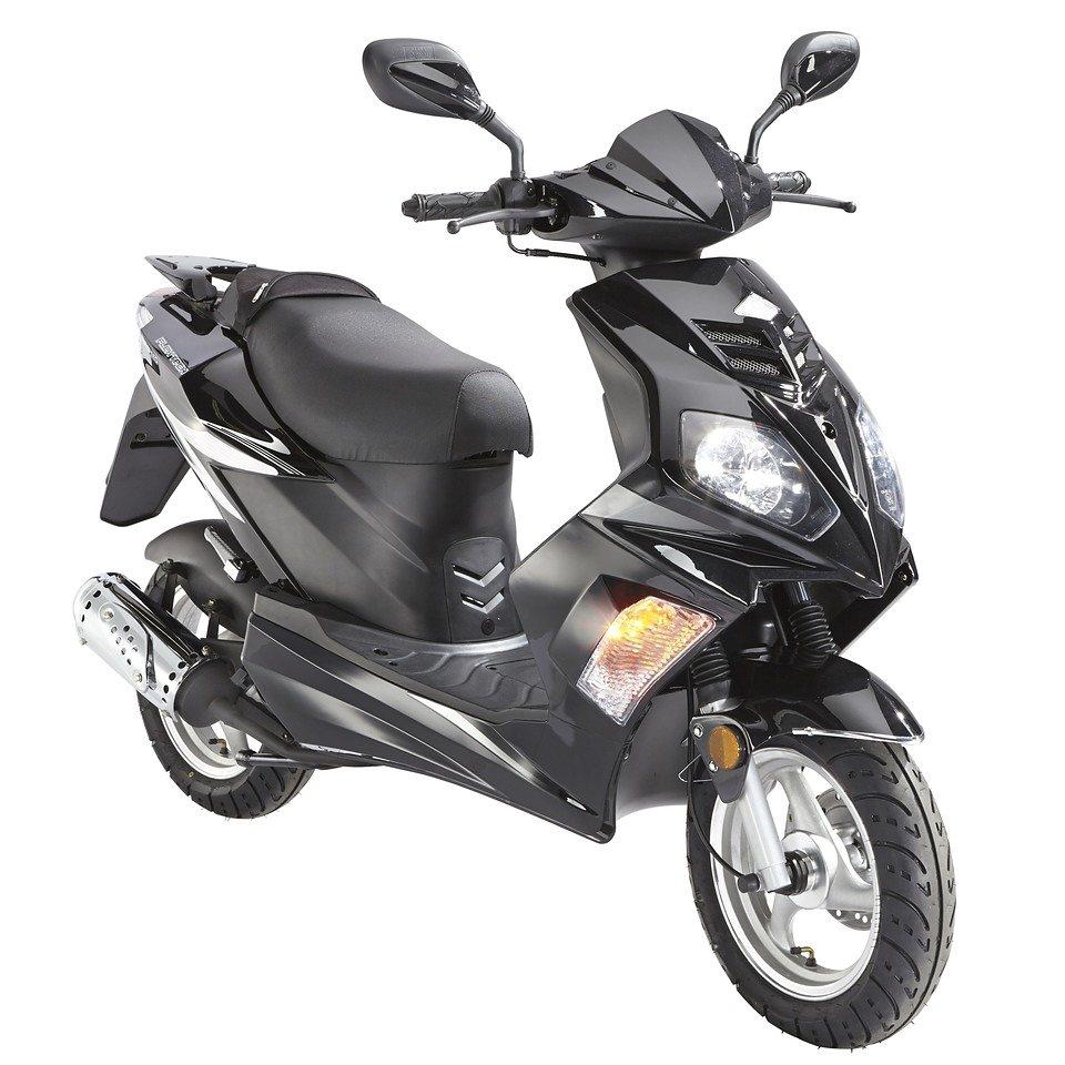 Motorroller »Flex Tech Topspeed«, 50 ccm, 45 km/h in schwarz