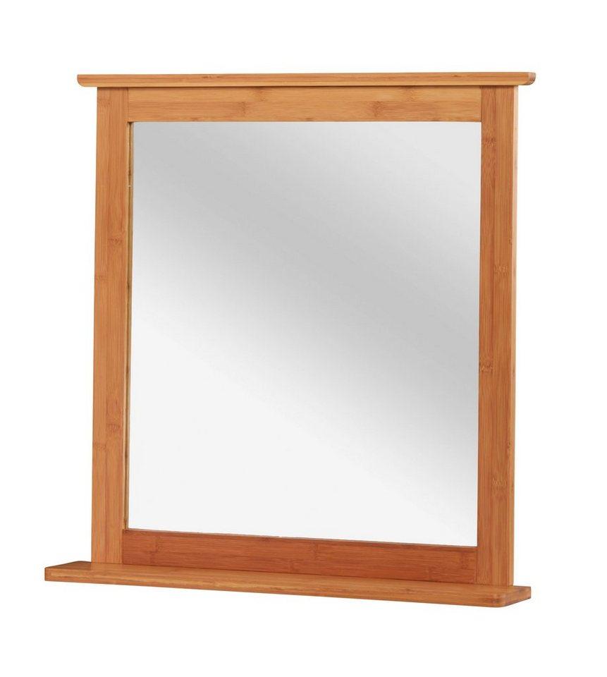 Spiegel / Badspiegel »Bambus« Breite 67 cm, mit Ablage in bambus