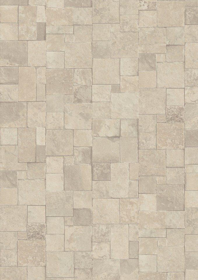 Laminat »Megafloor M2 Kingsize«, Mosaik Stein creme Nachbildung in weiß