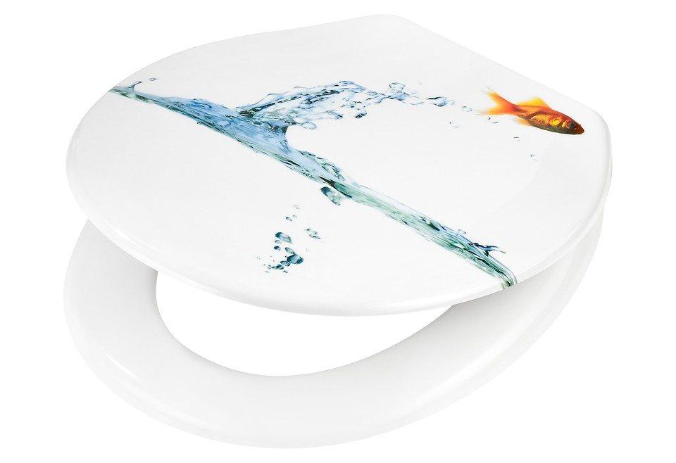 WC-Sitz »Goldfisch«, Mit Absenkautomatik in bunt