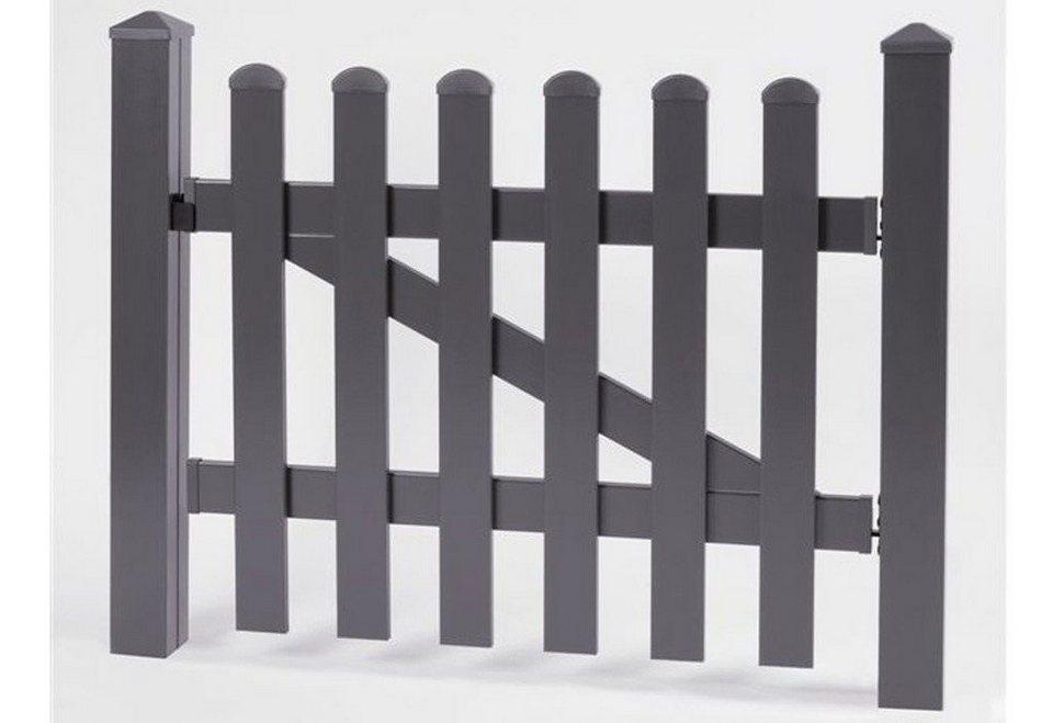 Zaun-Einzeltür gerade »114 x 80 cm anthrazit«