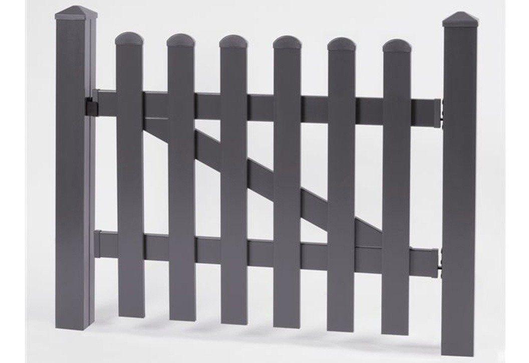KM Meeth Zaun Gmbh Zaun-Einzeltür gerade »114 x 80 cm anthrazit«