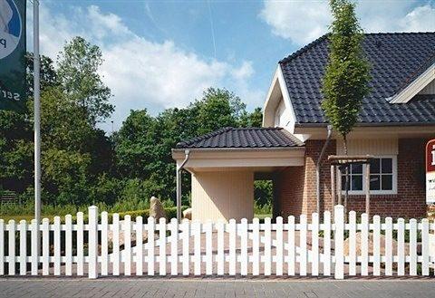 Zaun-Doppeltür gerade »328 x 80 cm weiß«