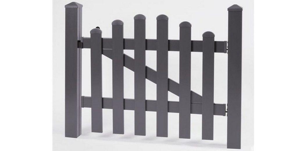 Zaun-Einzeltür mit Oberbogen »114 x 80 cm anthrazit«