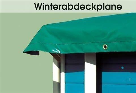 Winter-Abdeckplane für Holzpool in grün