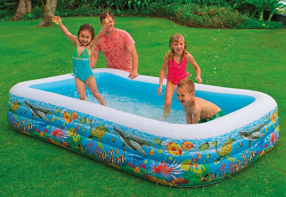 Intex Inflatable Swimming Pool 10ft X 6ft X 22inch Height 58485 Family Pool Ebay