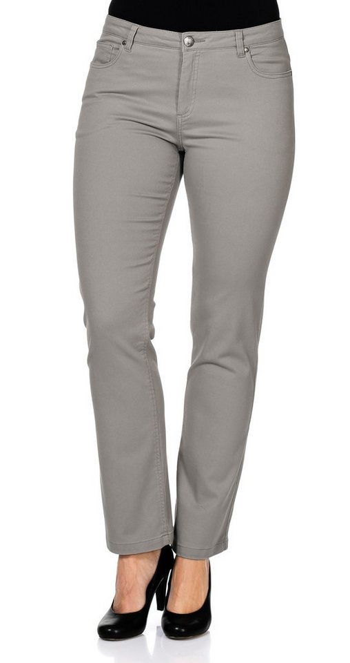 sheego Casual Stilvolle Hose in beige