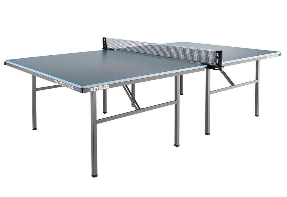 Tischtennisplatte, »Outdoor 8«, Kettler in grau-blau