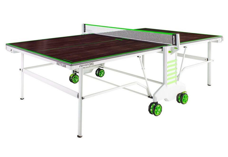 Tischtennisplatte, »Wood Pong Outdoor«, Kettler in braun-grün