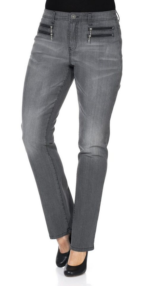 sheego Denim Gerade Stretch-Jeans in grey denim