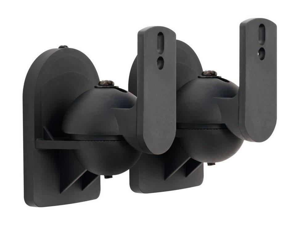 connect it halterung it wandhalterung schwarz universal lautsprecher online kaufen otto. Black Bedroom Furniture Sets. Home Design Ideas