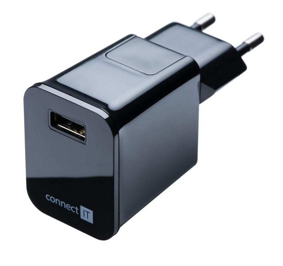 connect IT Ladegerät »IT USB Netzteil 2.1 A Schwarz« in schwarz