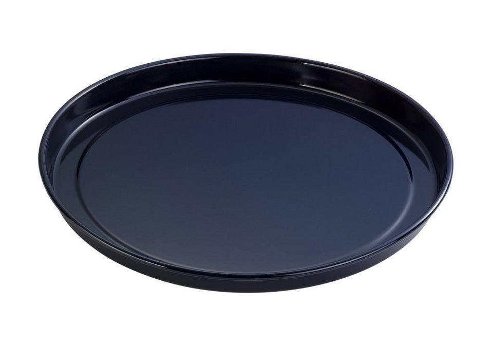 Back- und Pizzablech Emaille Kreativ, Dr. Oetker in schwarz