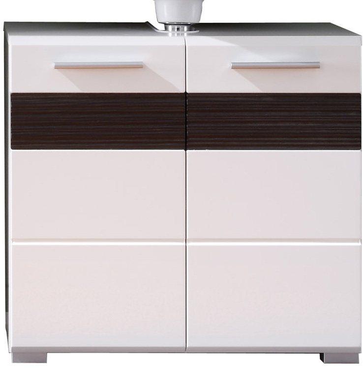 Welltime Waschbeckenunterschrank »Mezzo« in weiß-schokofarben