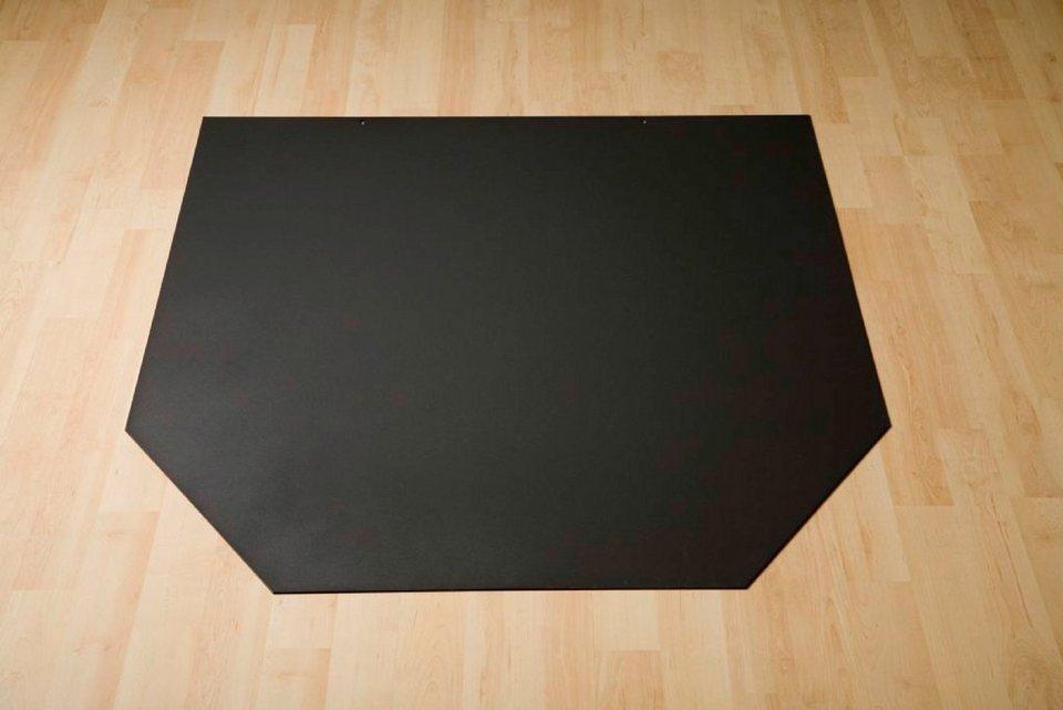 Stahlbodenplatte »Sechseck«, 100 x 86 cm, grau, zum Funkenschutz in schwarz