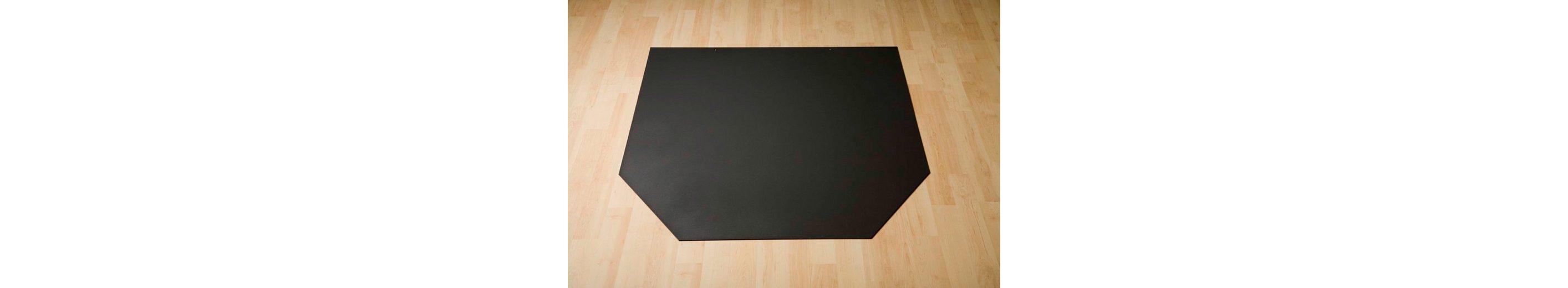 Stahlbodenplatte »Sechseck«, 100 x 86 cm, grau, zum Funkenschutz