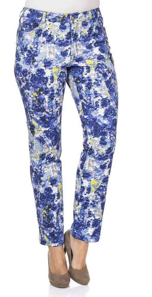 sheego Style Hose mit schmaler Passform in bedruckt