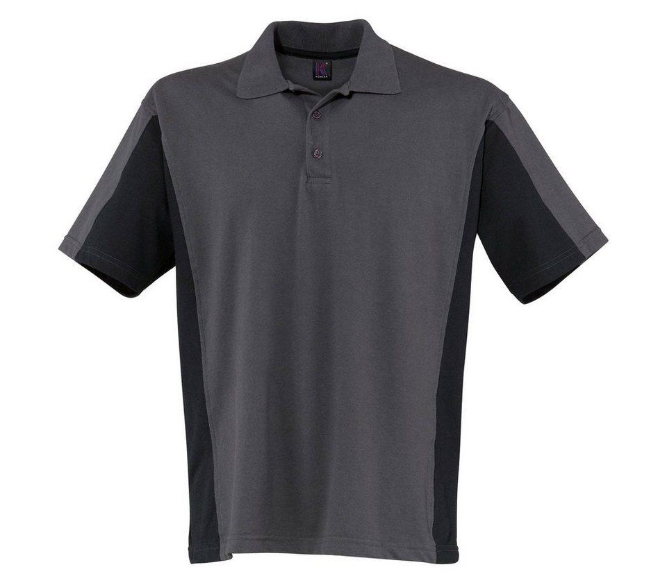 Kübler Poloshirt »Shirt-Dress« in anthrazit/schwarz