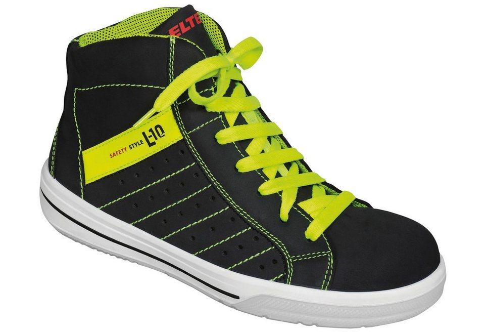 Sicherheitsstiefel »Breezer Black Mid« in gelb/schwarz