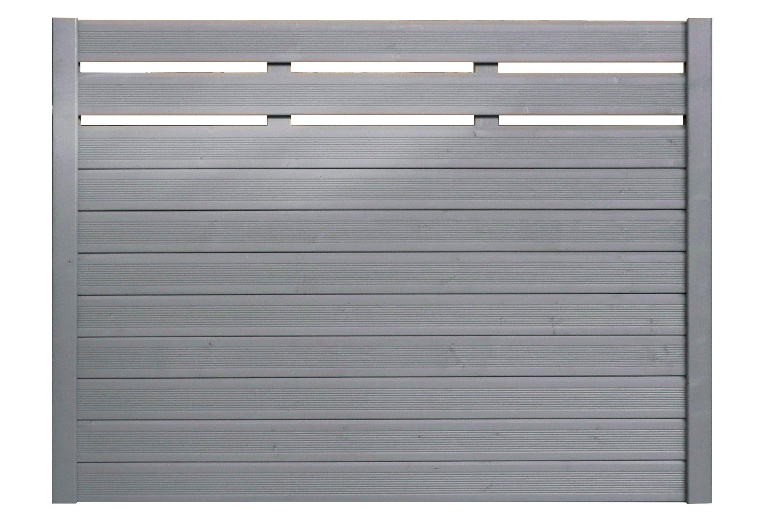 Bm Massivholz Sichtschutz Zaunelement silbergrau »EA5Y-F1X 4« (Höhe 135 cm) | Garten > Zäune und Sichtschutz | BM Massivholz