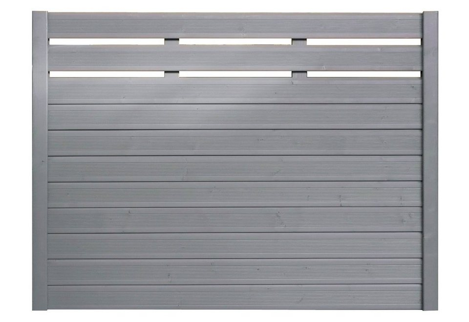 Sichtschutz Zaunelement silbergrau »EA5Y-F1X 4« (Höhe 135 cm)