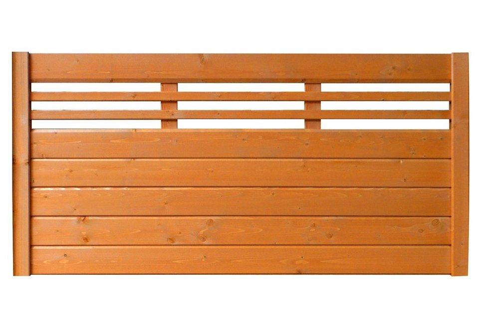 Sichtschutz Zaunelement kirschbaumfarben »EA5Y-F1X 2« (Höhe 90 cm)