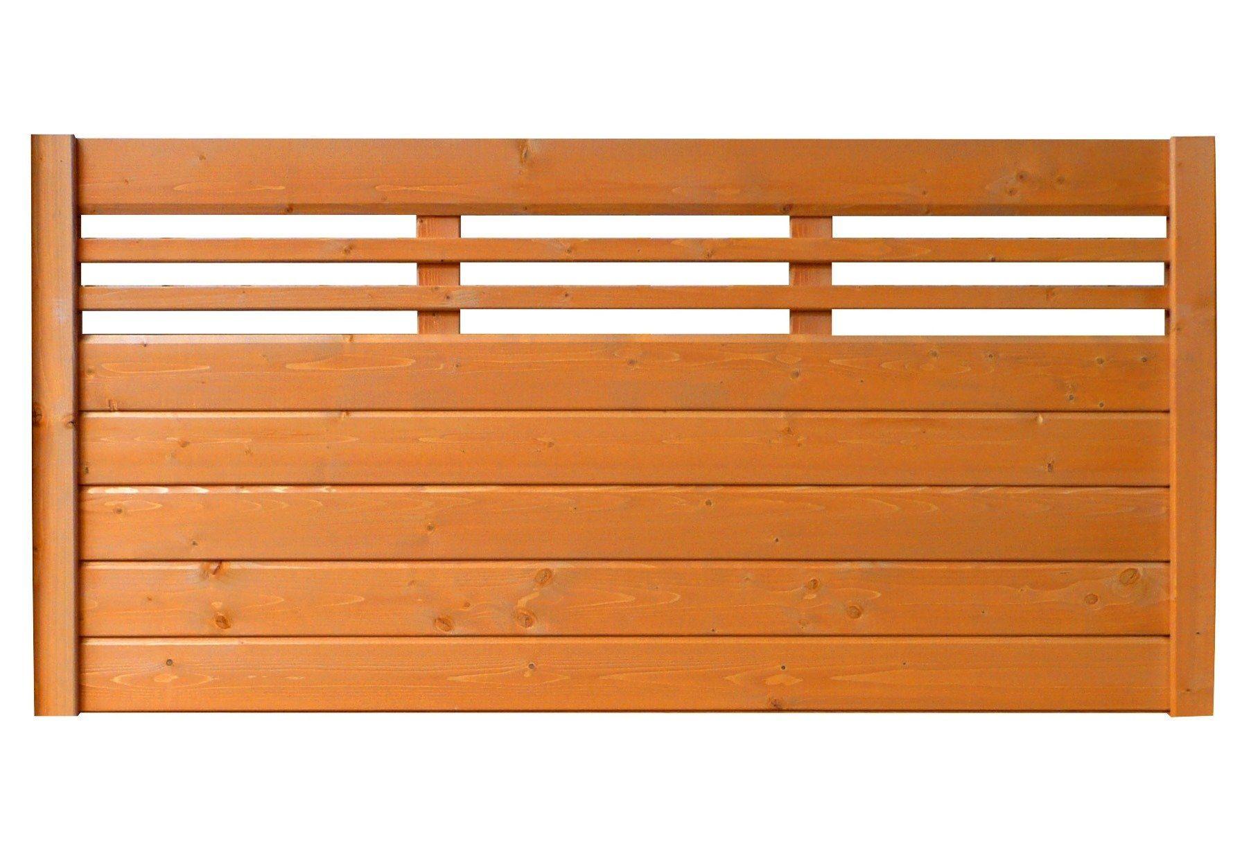 Bm Massivholz Sichtschutz Zaunelement kirschbaumfarben »EA5Y-F1X 2« (Höhe 90 cm)