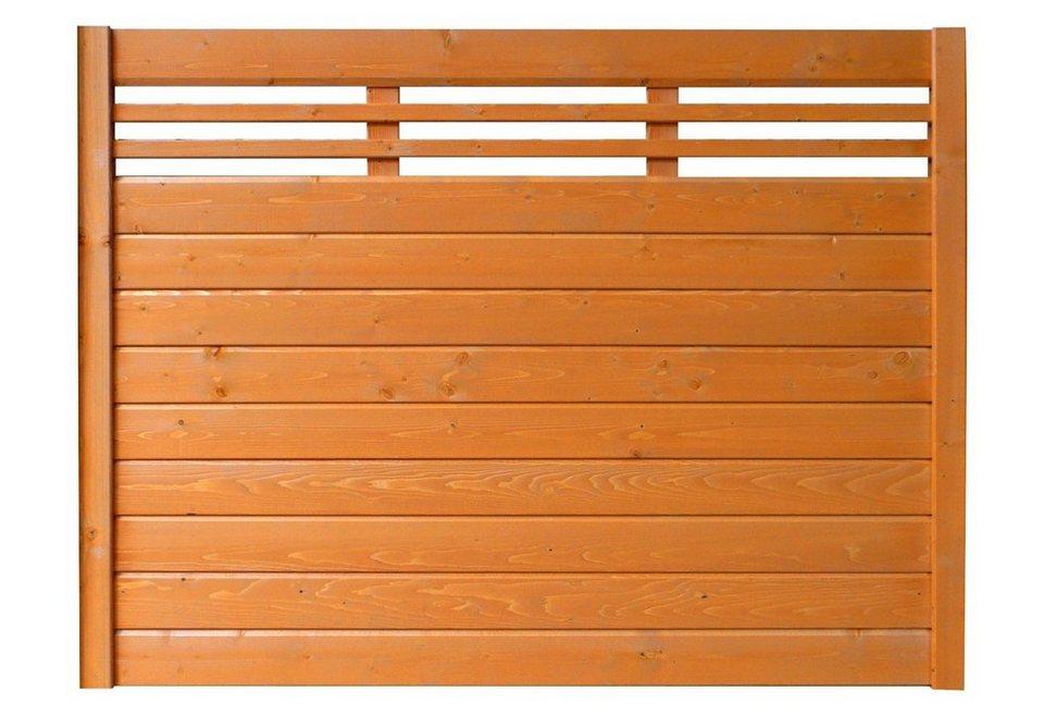 Sichtschutz Zaunelement kirschbaumfarben »EA5Y-F1X 2« (Höhe 135 cm)