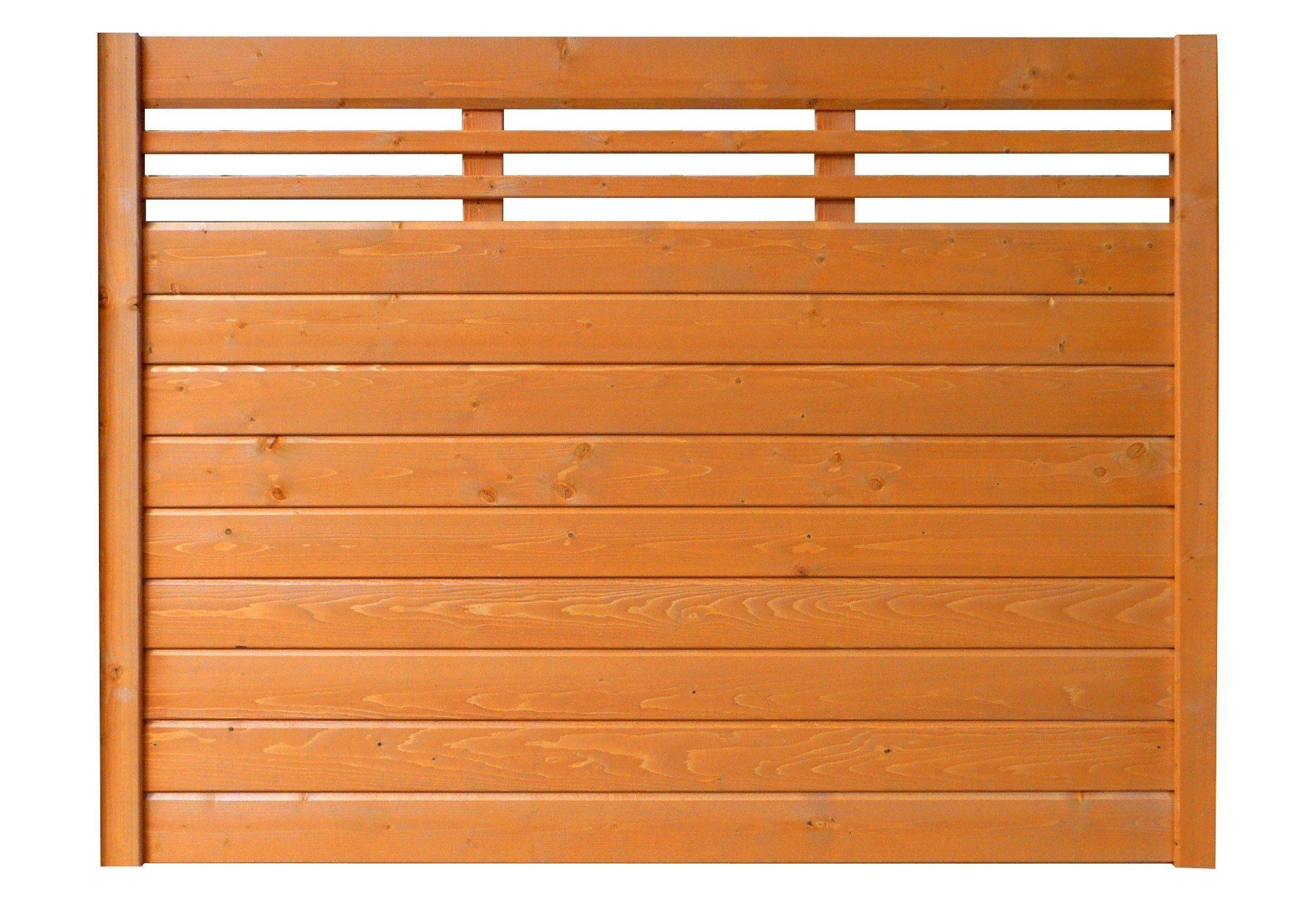 Bm Massivholz Sichtschutz Zaunelement kirschbaumfarben »EA5Y-F1X 2« (Höhe 135 cm)