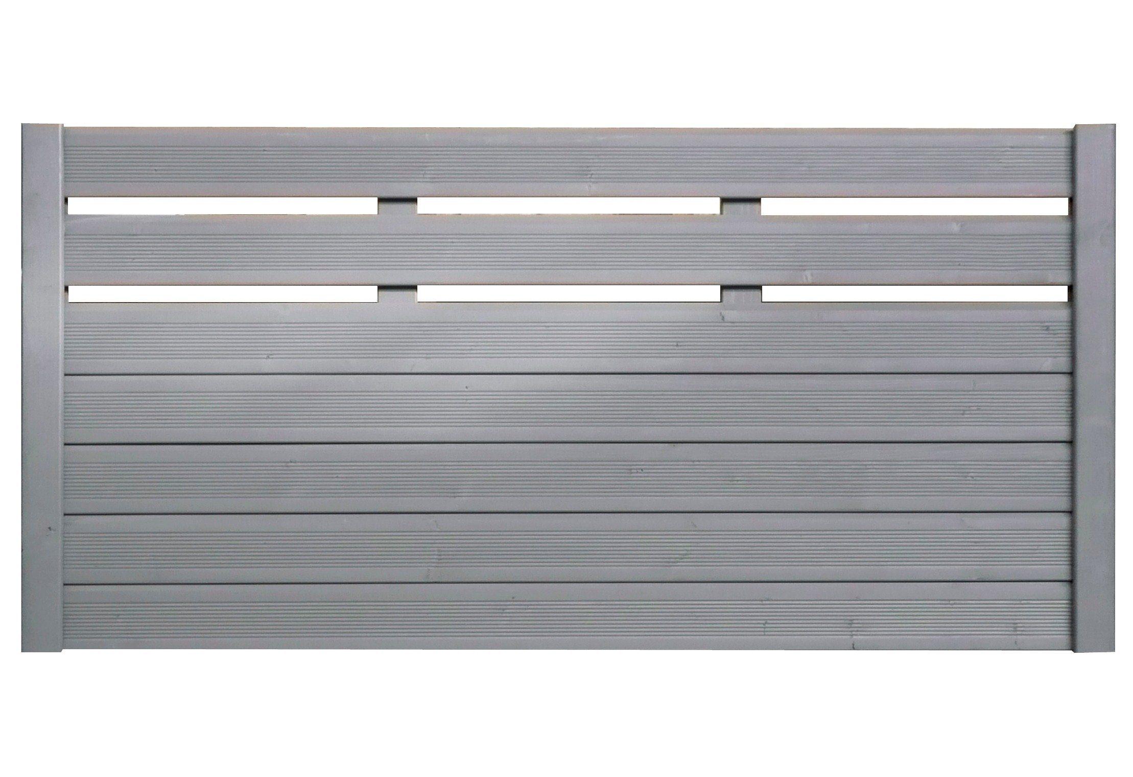 Bm Massivholz Sichtschutz Zaunelement silbergrau »EA5Y-F1X 4« (Höhe 90 cm)