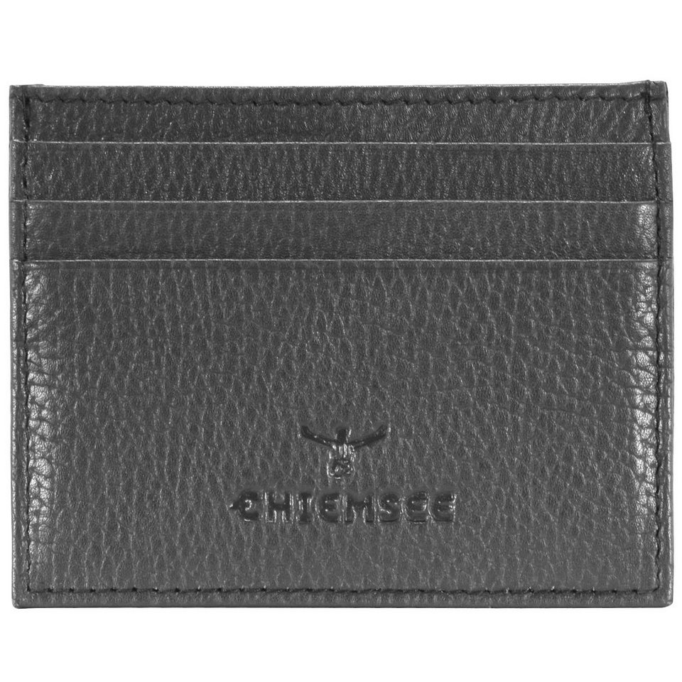 Chiemsee Little Visitenkartenetui Leder 10 cm in dark grey