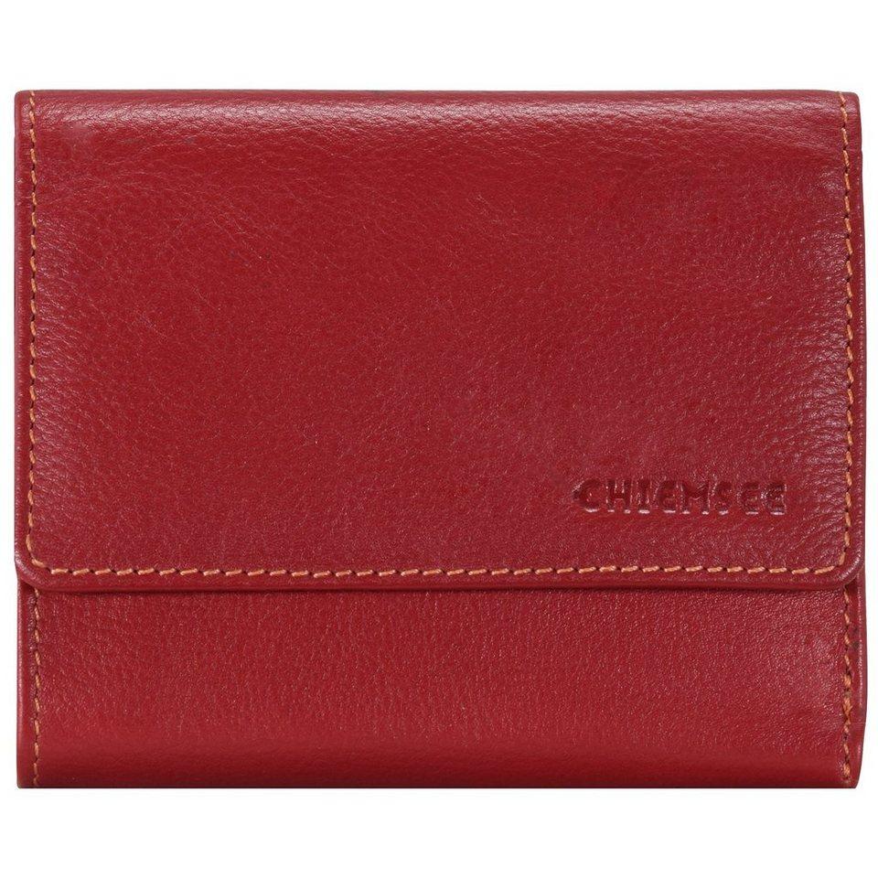 Chiemsee Vermentino Geldbörse Leder 12,5 cm in red