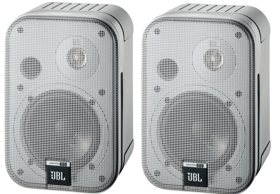 JBL (Paar) 2-Wege Monitor Lautsprecher »Control One« in silber