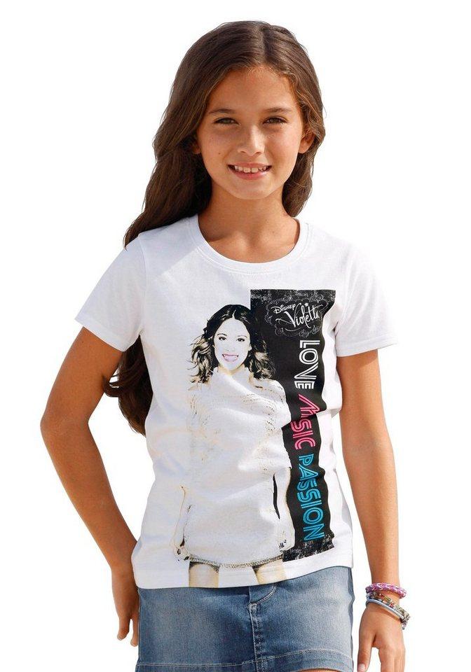 Violetta T-Shirt mit angesagtem Violetta-Druck, für Mädchen in Weiß