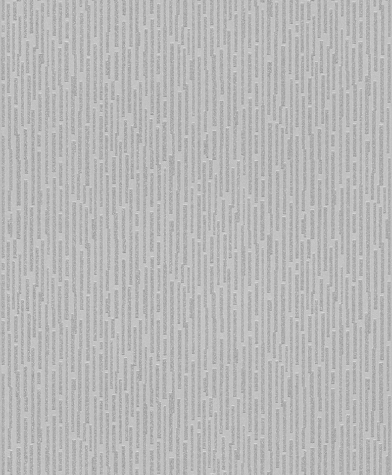 Papiertapete, Rasch, »Luxus 3« in grau, silber