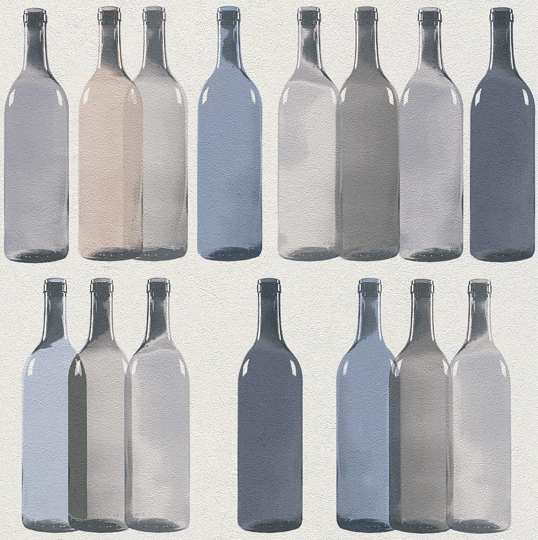 Vliestapete, Rasch, »Flaschen«